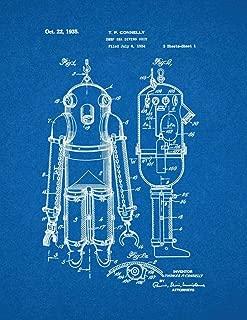 Deep Sea Diving Suit Patent Print Blueprint (24