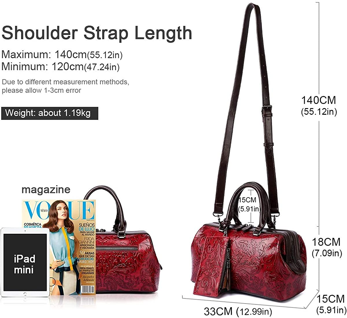 Satchel Handbags and Purses for Women Embossed Top Handle Shoulder Bags 8340