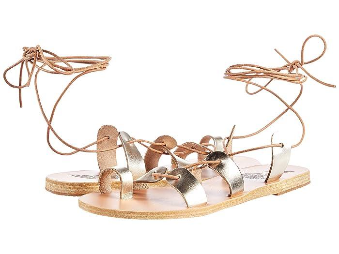 Ancient Greek Sandals  Alcyone (Platinum) Womens Shoes
