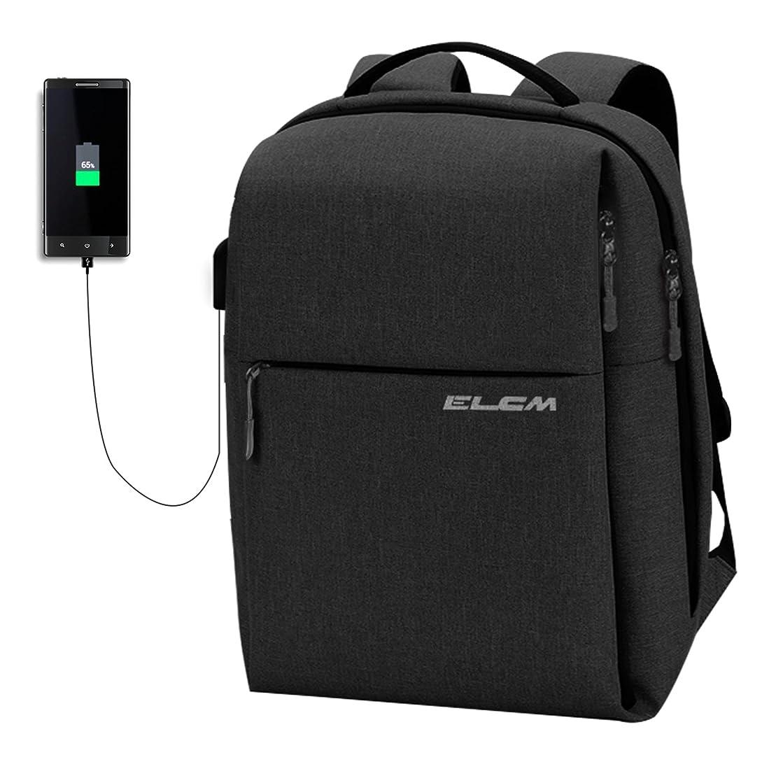 ELCM Laptop Backpack, 【Fits Under 15.6