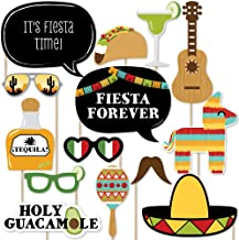 Big Dot of Happiness Mexican Fiesta - Mexican Themed Photo Booth Props Kit - 20 Count
