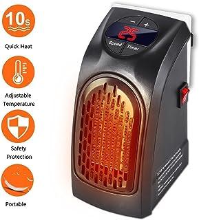 Handy Heater - Gesundhome 350W Mini Portátil Estufa Eléctrico Calefactor Cerámicos Calefacción de Pared Termoventilador con Digital Termostato Ajustable para Oficina/Casa/Garaje/Camper