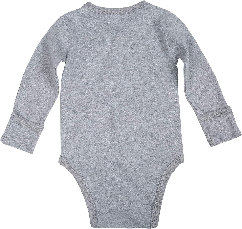 OPAWO Baby 3-Pack Side Snap Bodysuit 100/% Cotton Long Sleeve with Mitten Cuffs Unisex Boy Girls Kimono Onsies