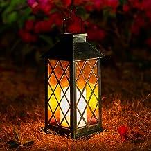 Solar lantaarns outdoor, OxyLED 1 Pack flikkerende zonne-tuin lantaarns IP44 waterdicht 600 mAh LED Solar Deco landschap v...