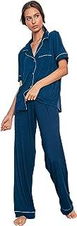 Eberjey Women's Gisele Pajamas Short Sleeve Pants Set