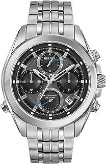 96B260 Mens Precisionist Silver Steel Bracelet Chronograph Watch