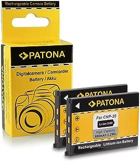 2x Batteria Patona caricabatteria casa//auto per Casio Exilim EX-Z75,EX-Z77