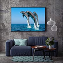 tzxdbh Nordic Wall Art Shark Dolphin Canvas Painting Picture Scandinavian Posters Nordique Wall Pictures for Living Room Home Decor-in a Gr 20x30 CM Sin Marco 4