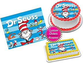 Cat in the Hat Dr Seuss Edible Image Icing Frosting Sheet #9 Cake Cupcake Cookie Topper Sugar Sheet (8
