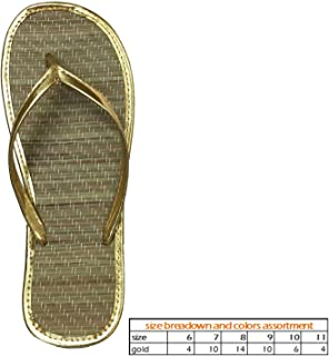 958e9f32b Wholesale Women s Bamboo Sandals Nice and Simple Beach flip Flop Pack ...