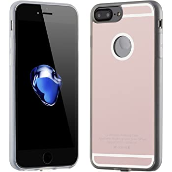 Qi Wireless Charger Charging Receiver Case TPU Back Cover for iPhone 7 Plus (5.5 Inch), with Flexible Connector