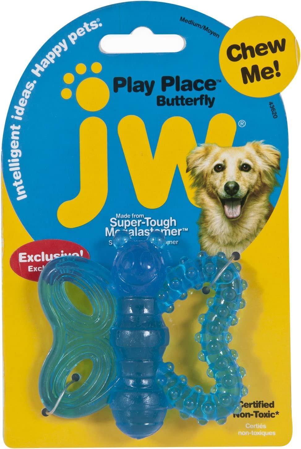 JW Pet Playplace Butterfly Teether, Multicolor