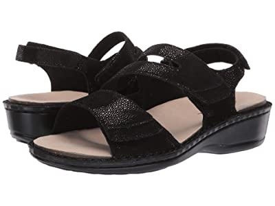 Aravon Cambridge Three Strap (Black) Women