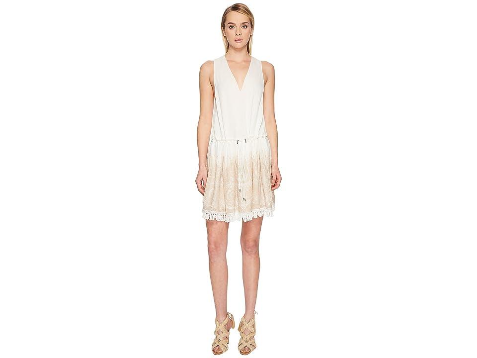 Jonathan Simkhai Embroidered Silk Crinkle Mini Dress Cover-Up (Ivory) Women
