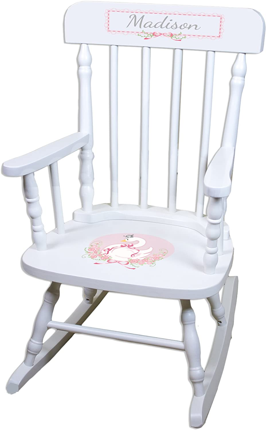 Personalized Swan White Limited Luxury goods price Childrens Chair Rocking