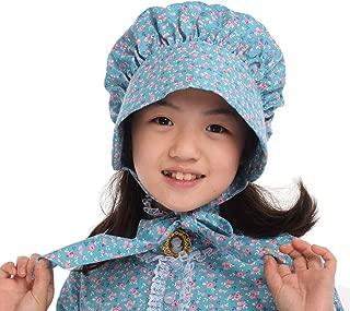 GRACEART Girl's 100% Cotton Pioneer Prairie Bonnet Cap Hat (8 colors option)