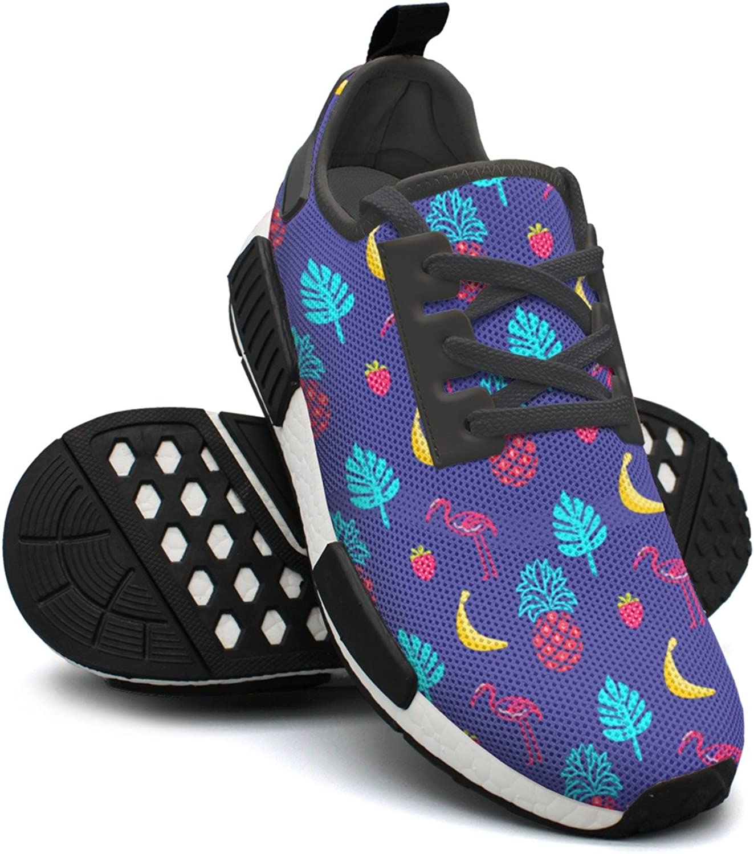 Ktyyuwwww Women Girls colorful Printing Flamingo bluee Summer Jogger Casual Running shoes
