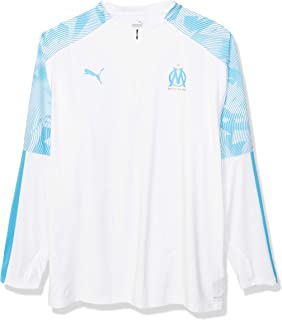 تي شيرت رجالي بكم طويل من PUMA Olympique de Marseille OM بسحاب للتدريب 1/4