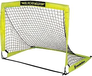 Franklin Sports Blackhawk Portable Soccer Goal - Pop-Up Soccer Goal and Net - Indoor or Outdoor Soccer Goal - Goal Folds For Storage - 12'x6',  9'x5.6',  6.5'x3.25 or 4'x3' Soccer Goal
