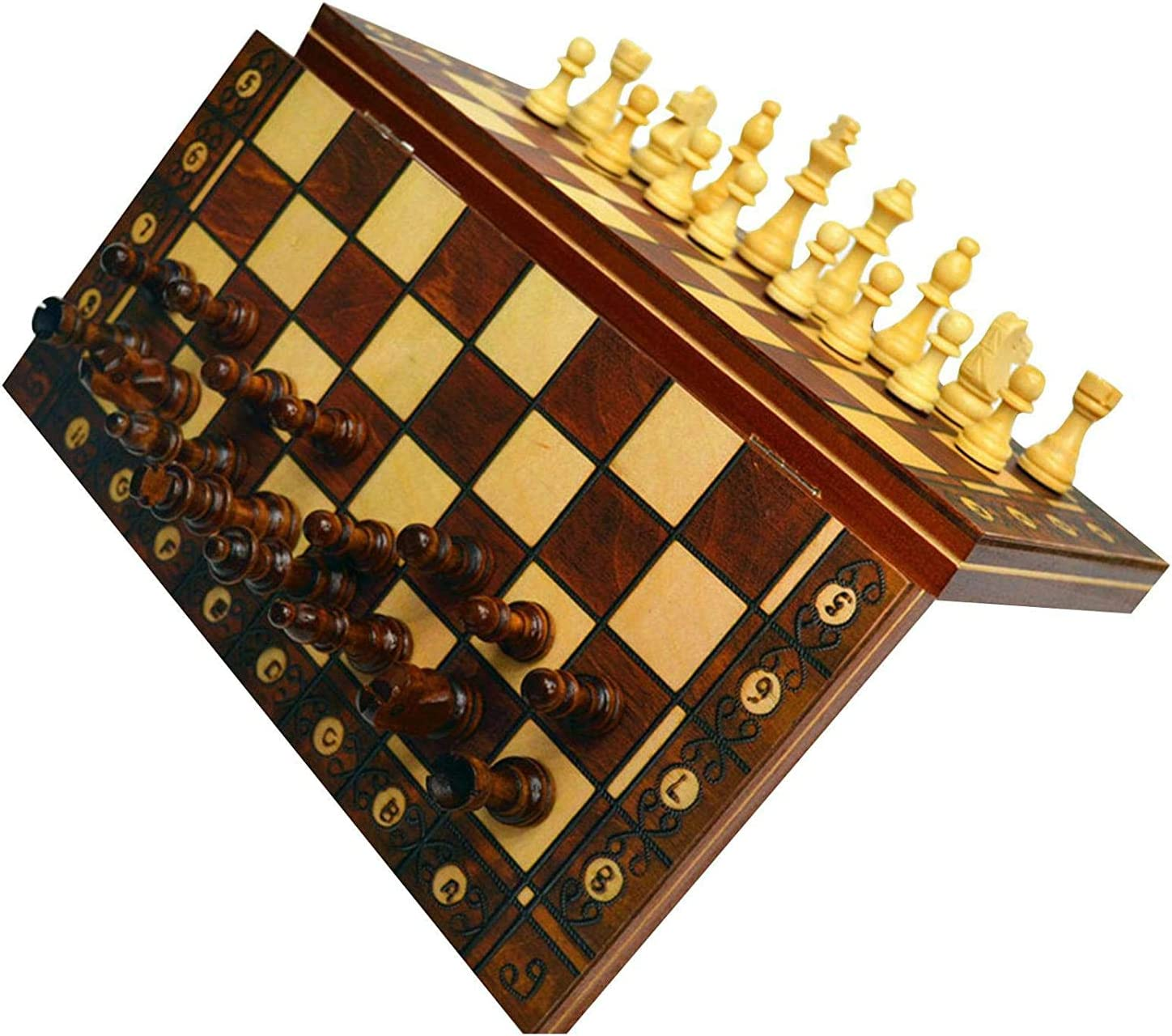 MNBV 3-in-1 latest Chess Game Now on sale Checkers B Wood Backgammon Foldable