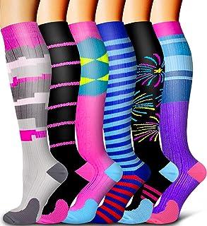 6 Pack Compression Socks - Compression Socks Women & Men Circulation - Best for Medical,Running,Athletic