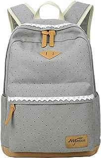 Mygreen Print Cute Dot Girls Kids Backpack for Children Elementary School Toddler Bags Bookbag - Gray