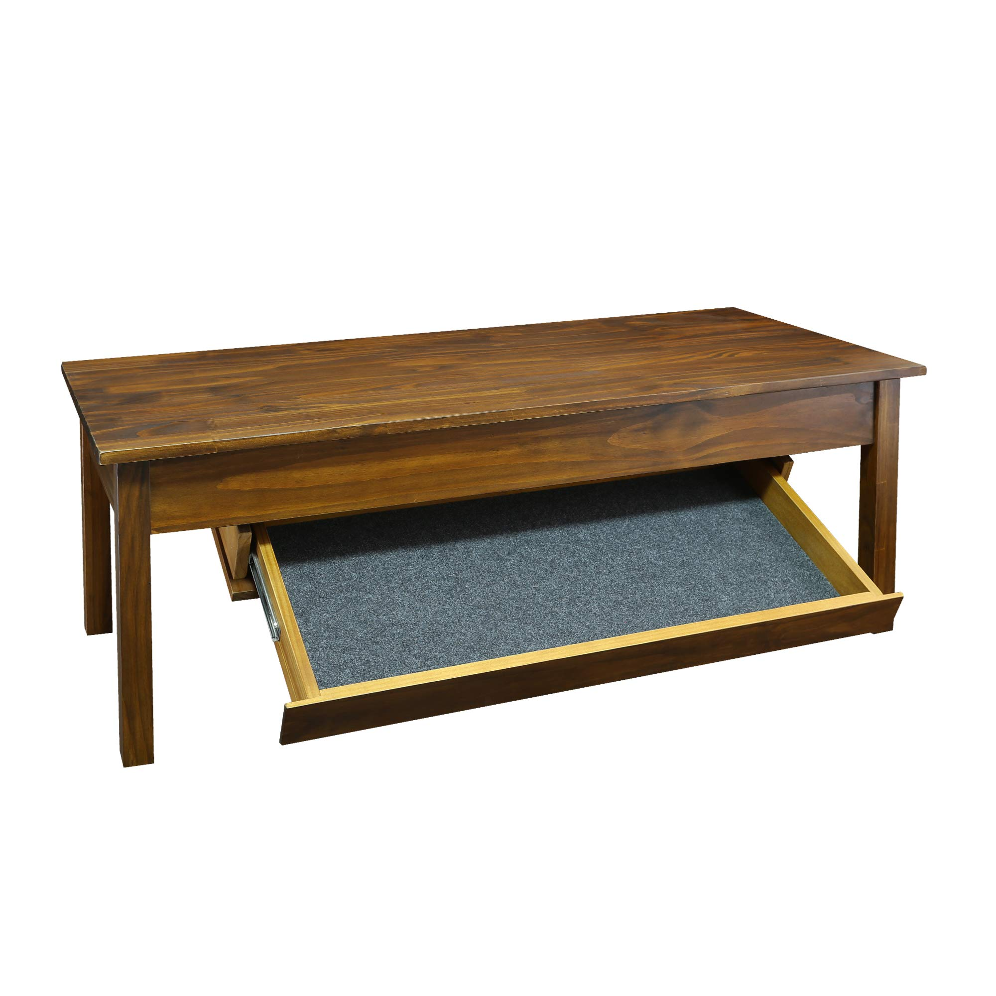 Casual Home Kennedy Coffee Table with Concealed Drawer, Concealment  Furniture, Warm Brown