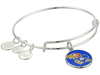 Alex and Ani Color Infusion, University of Kansas Charm Bangle (Shiny Silver) Bracelet