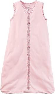Carters Unisex Baby Cotton Sleepbag Sleepsuit, Sleeveless Pink, Small 0-3 Months