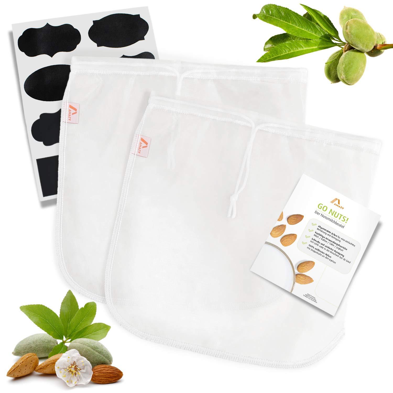 Compra Amazy Bolsa de Leche Vegetal – Bolsa Filtro Ideal para ...