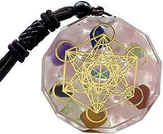 قلادة مكعب Merkaba لمكعب الميتاترون من Sinymilk Magic Energy Orgone Pendant