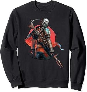 Star Wars The Mandalorian Bounty Hunter Helmet Badge Sweatshirt