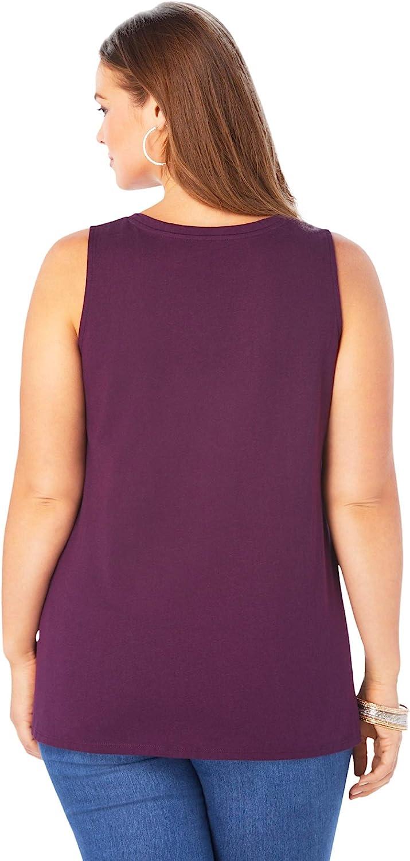 Roamans Women's Plus Size Swing Ultimate Tank Top