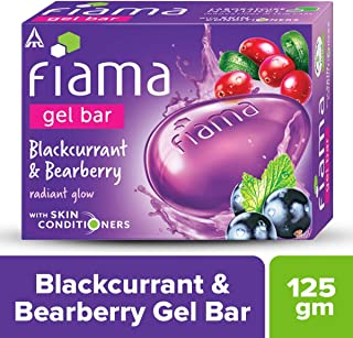 Fiama Gel Bar, Bearberry and Blackcurrant, 125g