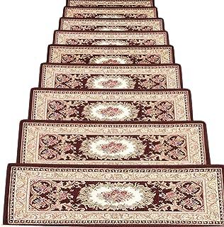 JIAJUAN Stair Carpet Treads Self Adhesive Rectangle Wear Resistant Stairs Step Mats Home Hotel, 2 Styles, 2 Sizes,Customiz...