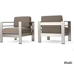 Coral Bay Outdoor Club Chairs w/ Water Resistant Cushions (2)