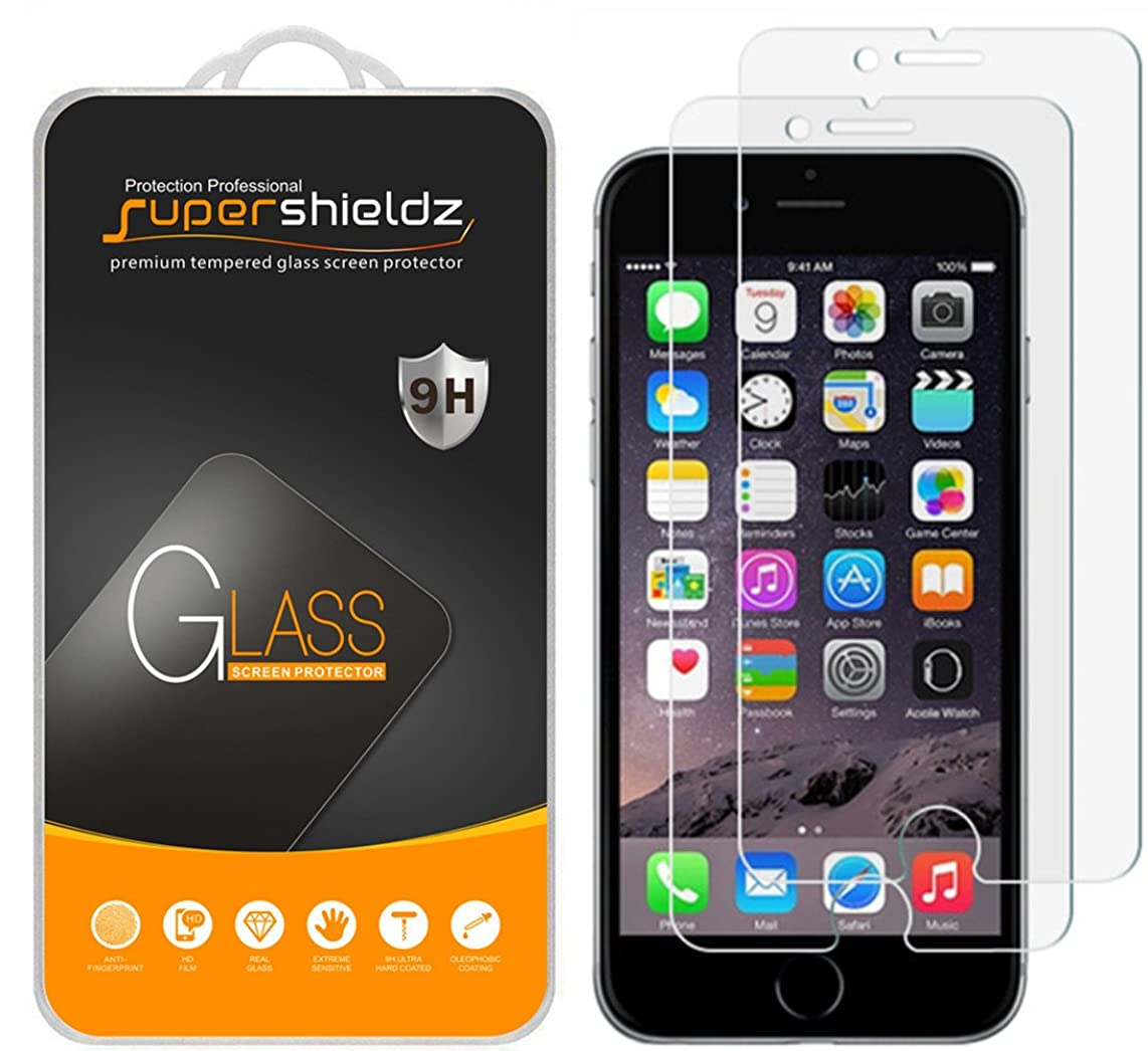 Supershieldz [2-Pack] for iPhone 8 Plus/iPhone 7 Plus (5.5-inch) Tempered Glass Screen Protector, Anti-Scratch, Bubble Free, Lifetime Replacement