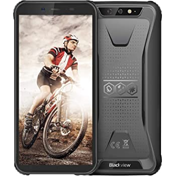 """Rugged Unlocked Cell Phones, Blackview BV5500 Pro 4G Smartphones IP68 Waterproof Drop Proof, 5.5"""" 3GB+16GB Dual SIM [Quad Core] Android 9.0 4400mAh Battery and Face ID Mobile Phones, Black"""