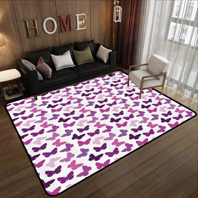 Carpet mat,Butterfly Decor,Butterflies Wings Fashion Style 47 x 71  Floor Mat Entrance Doormat