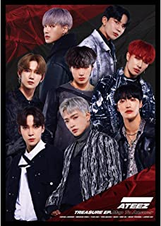 SosoJustgo2 Fashion Kpop ATEEZ Poster No Fading Art Sticker Glossy Paper Hanging Paintings Poster Wall Sticker Anime Painting Home Decor Fans Gift(ATEEZ13 42.029.7CM)