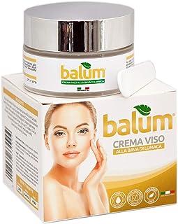 Balum Crema facial de baba de caracol con ácido hialurónico para cara cuello escote día y noche antiarrugas hidratan...