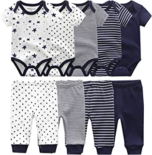 Baby Bodysuits 5-Pack Baby Clothes Short Sleeve Bodysuits...