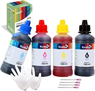 Koala 400ML Universal Refill Dye Ink Bottles Compatible with All Epson Desktop Inkjet Printers T664 774 T502 522 C88 for E...