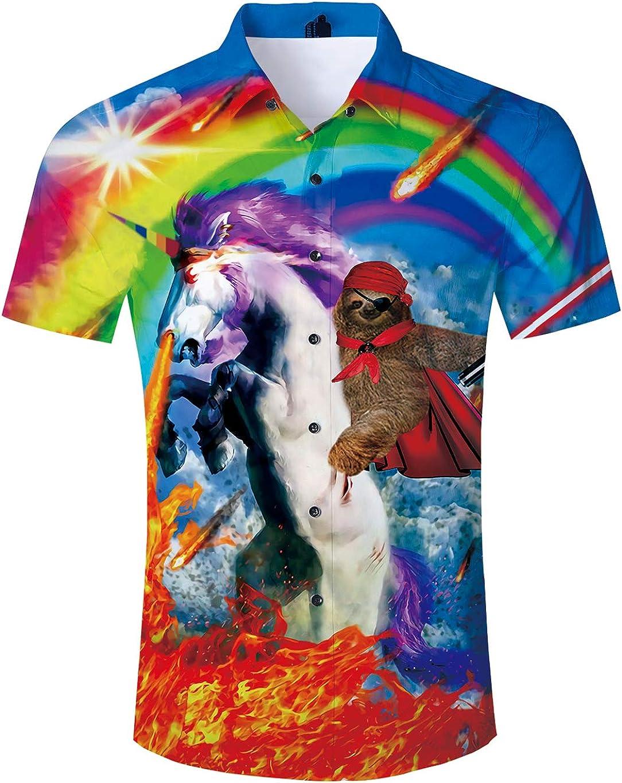 uideazone Men Hawaiian 100% quality warranty! Shirts Summer Short Printed Sleeve But 3D Popular product