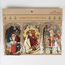 Luck Sass and Belle Christmas Scene Gift Tags Retro Vintage Style x 15