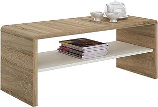 IDIMEX Table Basse Noelle, Table de Salon rectangulaire ou Meuble TV de 120 cm avec 1 étagère Espace de Rangement Ouvert, ...