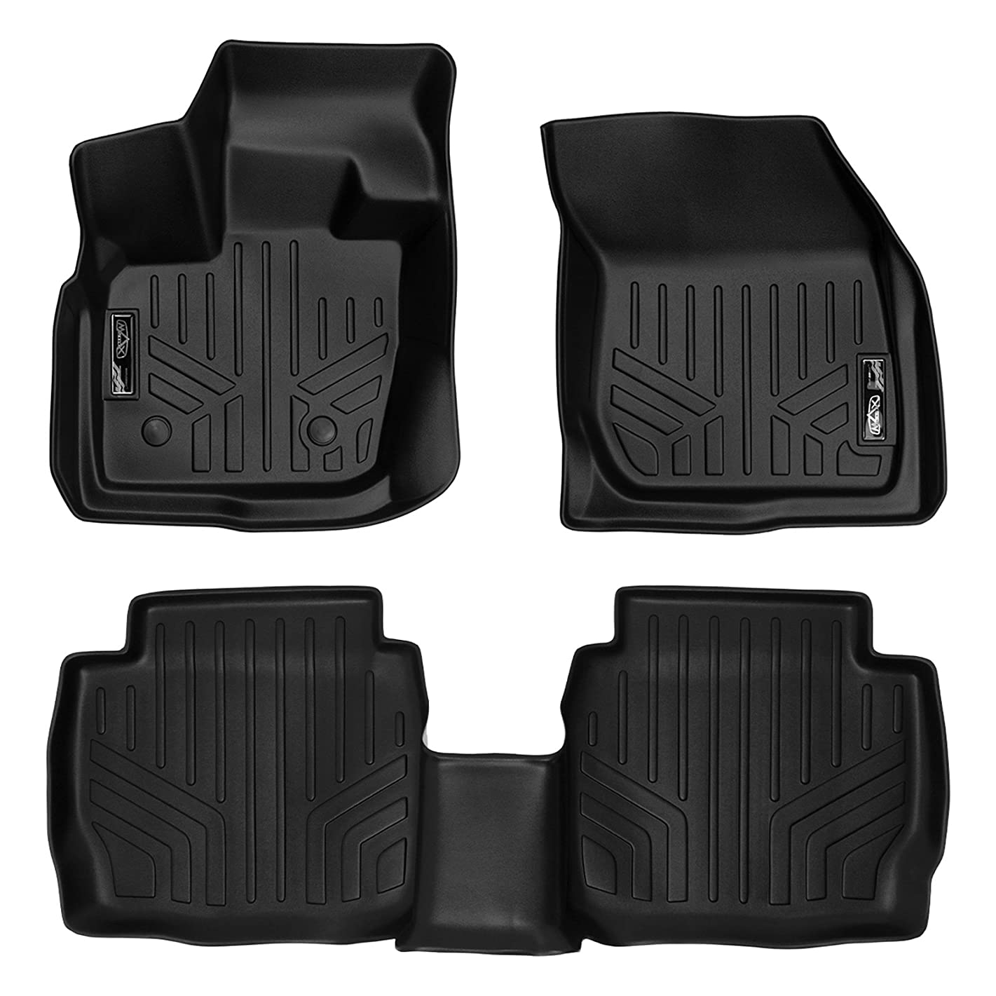 MAX LINER A0260/B0133 Custom Fit Floor Mats 2 Row Liner Set Black for 2017-2019 Ford Fusion/Lincoln MKZ