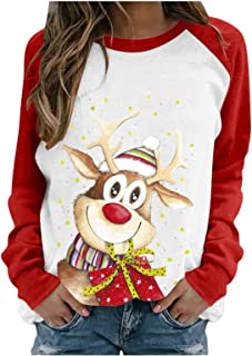 Women Casual Plus Size Christmas Lightweight Cute Elk...