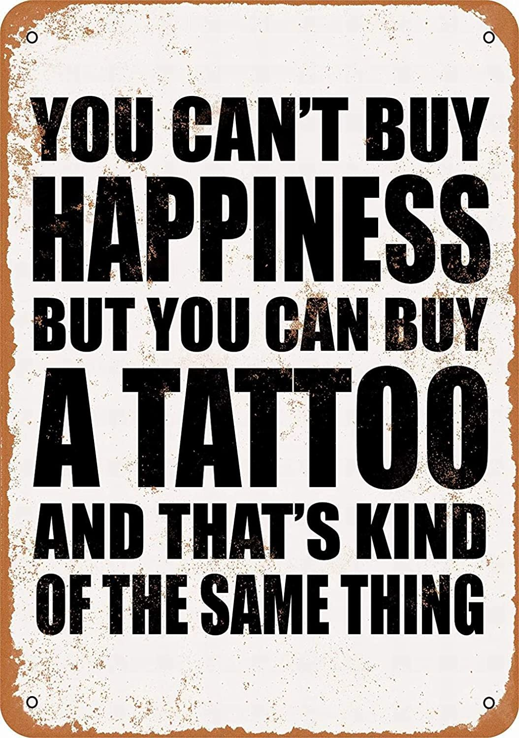 LoMall 8 x 12 Metal Sign - You Can't Buy Happiness But You Can B