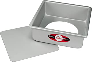 Fat Daddio's Anodized Aluminum Square Cheesecake Pan with Removable Bottom, 6 Inch x 6 Inch x 3 Inch